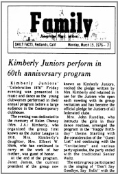 60th anniversary article (1976)